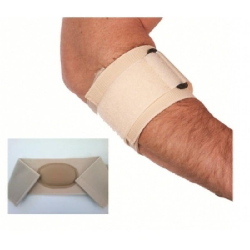 ADCO Δέστρα Επικονδυλίτιδας με επίθεμα Σιλικόνης (03185) από υφάντο ελαστικό ύφασμα, Έχει ειδική ενίσχυση από σιλικόνη στην περιοχή της επικονδυλίτιδας, Κλείσιμο με δέστρα & Velcro, Κατάλληλη για πρόληψη & θεραπεία επικονδυλίτιδας, Ένα μέγεθος, 1 τεμάχιο