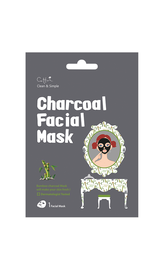 Vican Cettua Clean & Simple Charcoal Facial Mask Μάσκα από ξυλάνθρακα μπαμπού και φυτικά εκχυλίσματα, 1 τεμάχιο