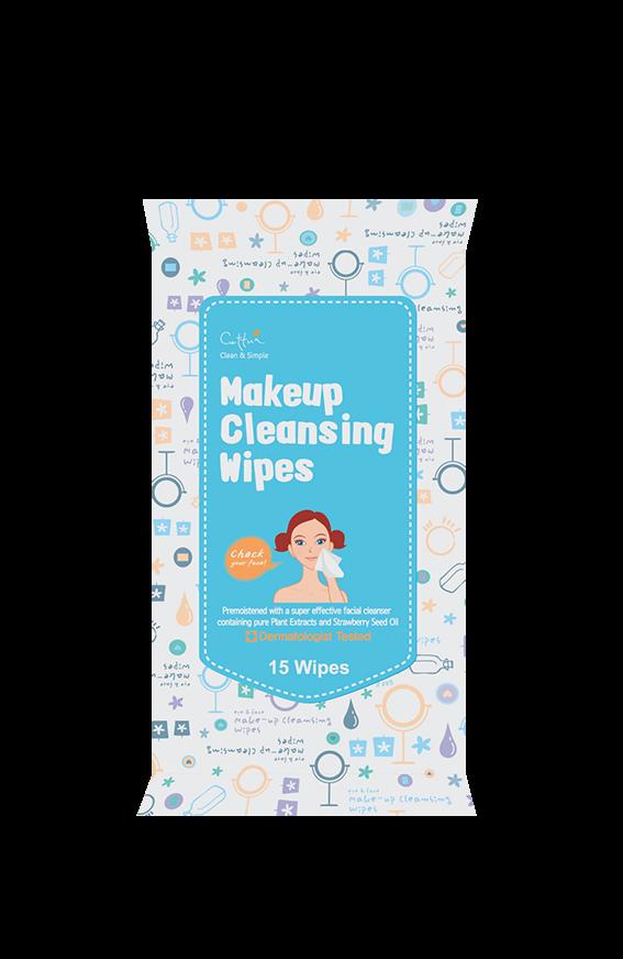 Vican Cettua Clean & Simple Makeup Cleansing Wipes Mαντηλάκια καθαρισμού & αφαίρεσης μακιγιάζ, 15 μαντηλάκια