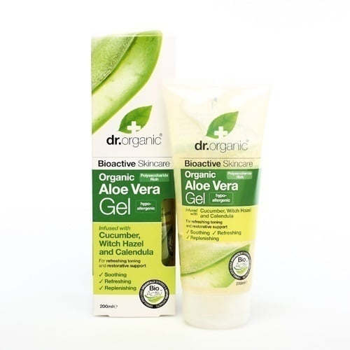 Dr. Organic Aloe Vera Gel with Cucumber & Witch Hazel, 200 ml