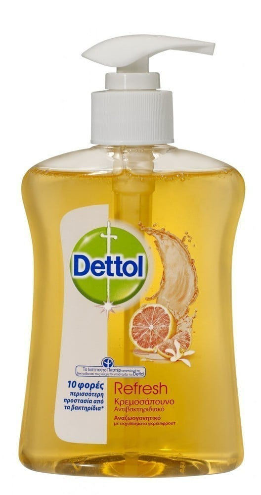 DETTOL Liquid Soap Reresh - Αναζωογονιτικό, Αντιβακτηριδιακό Υγρό Κρεμοσάπουνο , 250 ml