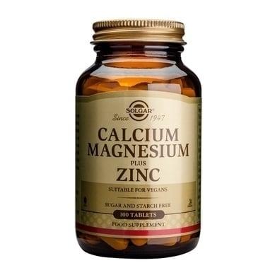 Solgar Calcium Magnesium plus Zinc,100tabs