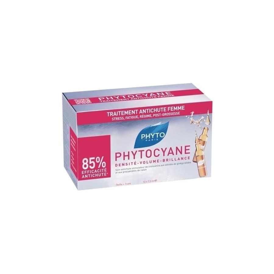 Phyto Phytocyane Traitement 12 amp x 7,5 ml Γυναικεία τριχόπτωση