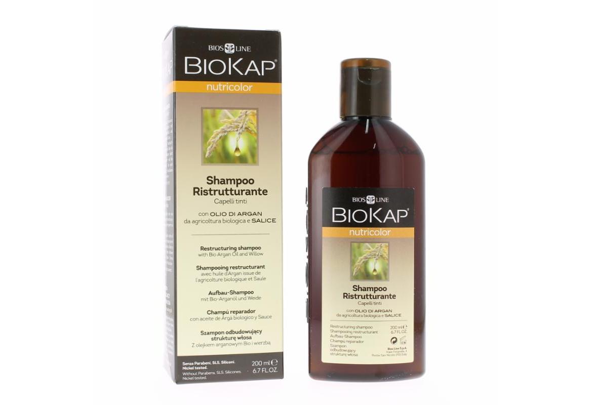 Biokap Nutricolor Shampoo Σαμπουάν Αναδόμησης για βαμμένα μαλλιά, 200ml