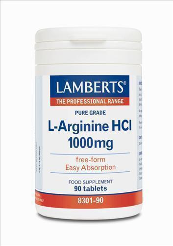 LAMBERTS L-ARGININE HCI 1000mg, 90 tabs