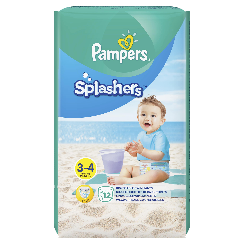 Pampers Splashers Μέγεθος 3-4 6-11 kg Πάνες-Μαγιό, 12 τεμάχια