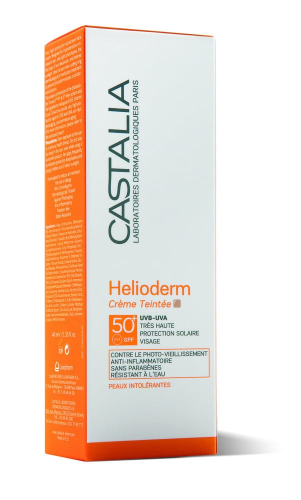 Castalia Helioderm Crème Teintée SPF50+ Αντηλιακή Κρέμα Προσώπου με Χρώμα, 40ml