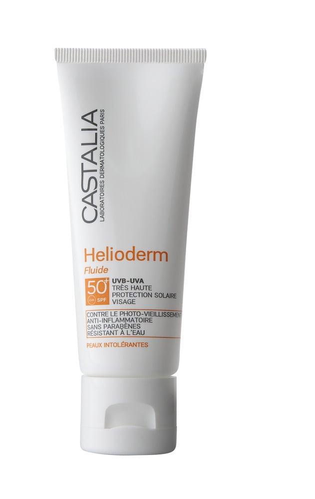 Castalia Helioderm Fluide SPF 50+ +50% ΔΩΡΕΑΝ ΠΡΟΪΟΝ Αντιηλιακή Κρέμα Προσώπου για Κανονικές, Μικτές & Ευαίσθητες Επιδερμίδες, 60 ml
