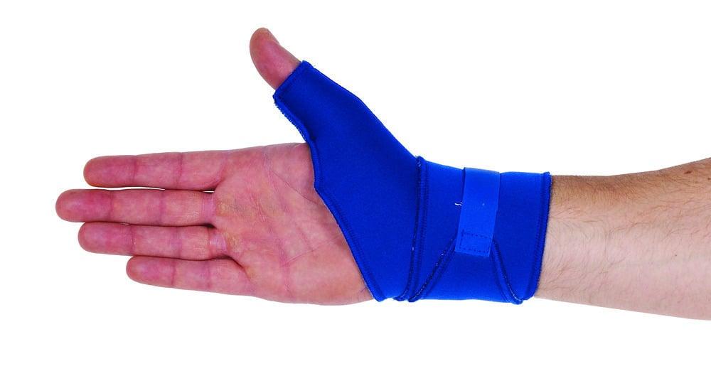 ADCO Δέστρα Καρπού & Αντίχειρα από Neoprene 2mm με εσωτερική βαμβακερή επένδυση, Περιορίζει την κίνηση του αντίχειρα, για σταθεροποίηση, πρόληψη & ήπιες παθήσεις - κακώσεις του καρπού & του αντίχειρα, 1 τεμ