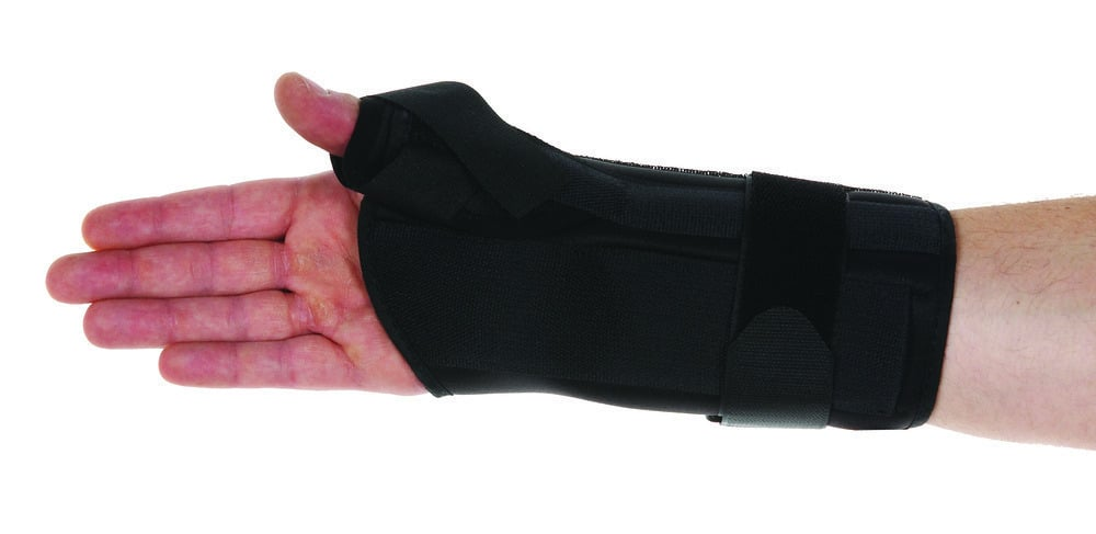 ADCO Νάρθηκας Καρπου & Αντίχειρα Airtouch, από αφρώδες επενδυμένο ύφασμα,Προσθαφαιρούμενο επίθεμα gel, για σταθεροποίηση καρπού & αντίχειρα,σύνδρομο De Quervain, κατάγματα σκαφοειδούς,Αριστερό Χέρι,1 τεμ
