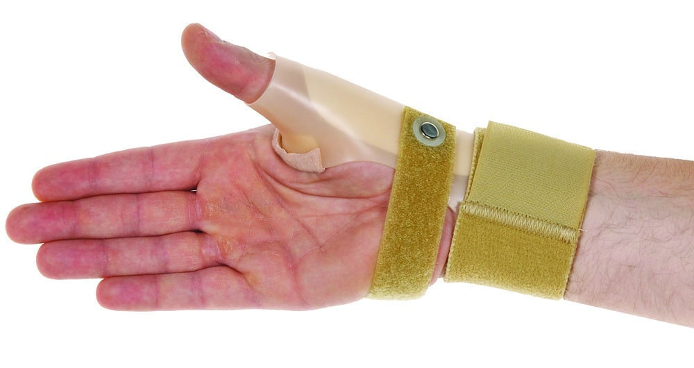 ADCO Νάρθηκας Καρπού & Αντίχειρα Πλαστικός, από θερμοδιαμορφώσιμο σκληρό πλαστικό υλικό, Εφάρμογη με Velcro,Κατάλληλος για εξάρθρωμα αντίχειρα, αρθρίτιδα αντίχειρα, σύνδρομο ''De Quervain'',Αριστερό Χέρι,1 τεμ