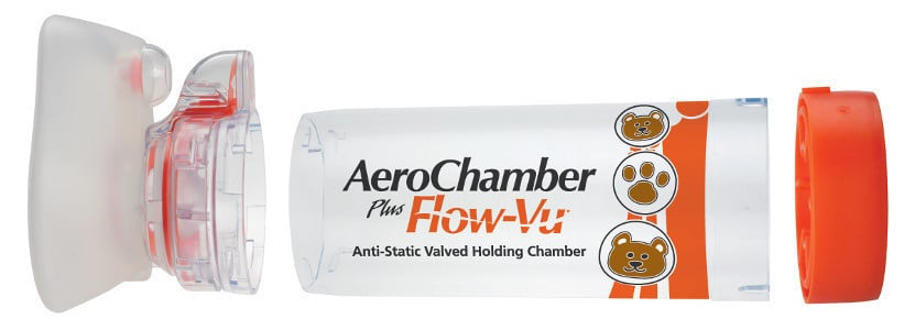 AeroChamber Plus Βρεφών με επιστόμιο, Βρέφική Μάσκα 0 - 18 Μηνών