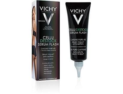 Vichy Cellu DESTOCK Serum Flash Ορός κατά της όψης φλοιού πορτοκαλίου σε 14 ημέρες (μηροί, γλουτοί, γοφοί, στομάχι, χέρια), 125ml