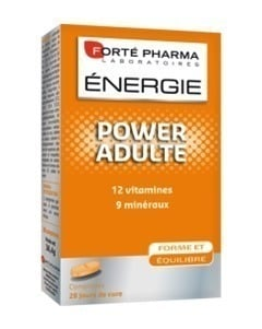 Forte Pharma Energy Power Adult, σύμπλεγμα πολυβιταμινών, εγγυάται τη βέλτιστη ημερήσια ποσότητα βιταμινών και ανόργανων συστατικών που χρειάζεται ο οργανισμός σας, 28 tabs