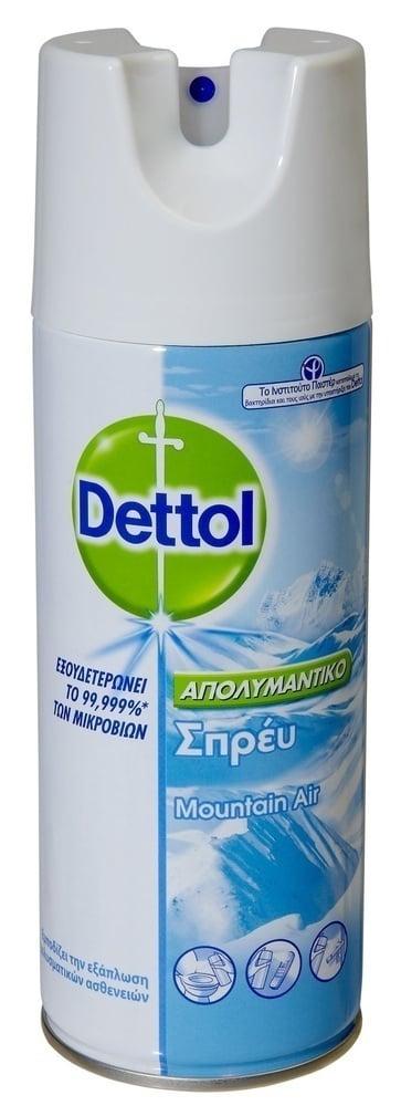 Dettol Απολυμαντικό Σπρέϋ Dettol, 400 ml