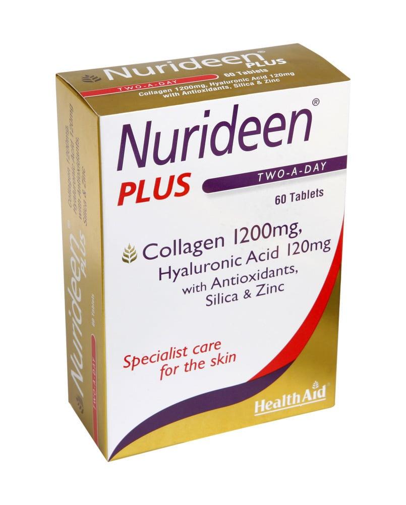 Health Aid Nurideen Plus Θαλάσσιο Κολλαγόνο με Υαλουρονικό Οξύ & Βιταμίνες για την Υγεία του Δέρματος, 60tabs