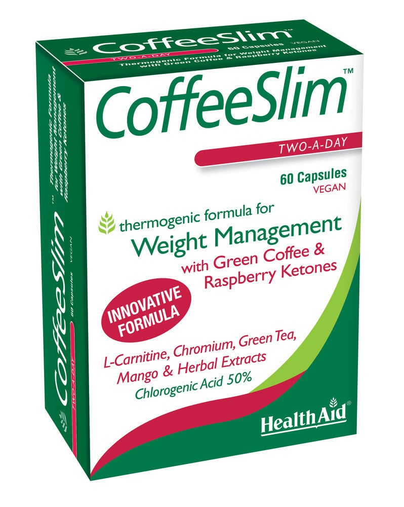 Health Aid Coffee Slim Two-a-Day, 60 caps