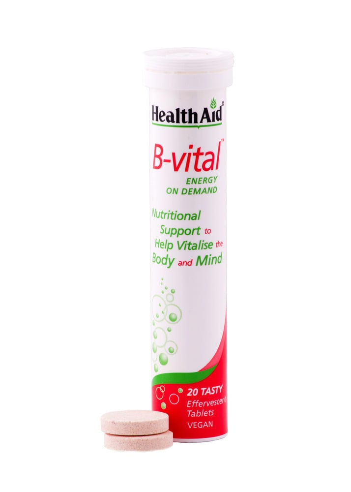 Health Aid B-VITAL Σύμπλεγμα Βιταμινών Β, C & Μετάλλων, με γεύση βερύκοκο, 20 eff. tabs