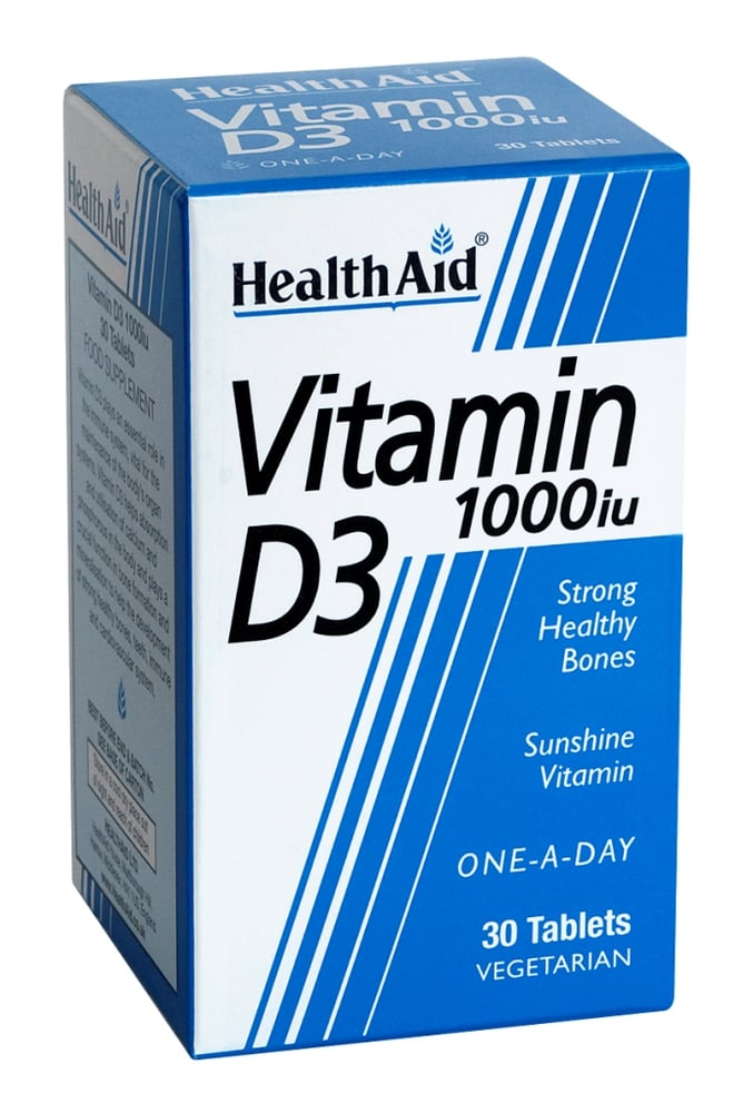Health Aid Vitamin D3 1000i.u, 30 tabs