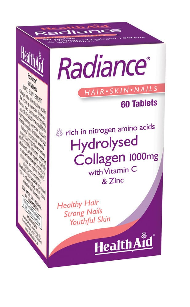Health Aid RADIANCE Hydrolysed Collagen 1000mg with Vit.C, 60 tabs