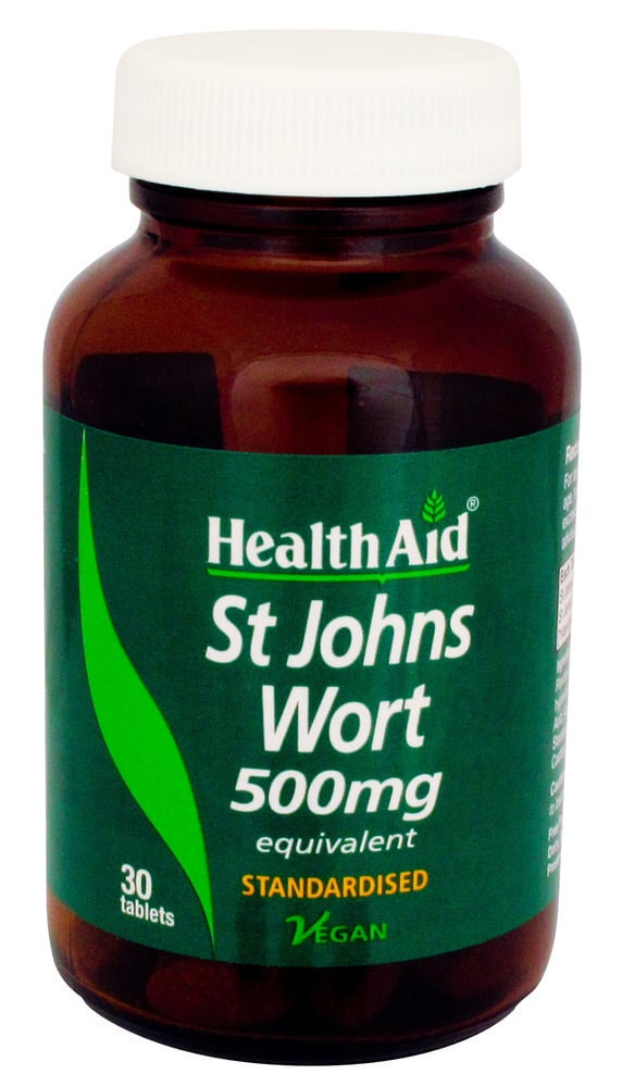 Health Aid St. John΄s Wort 500mg, Υπερικίνη, 30 ταμπλέτες