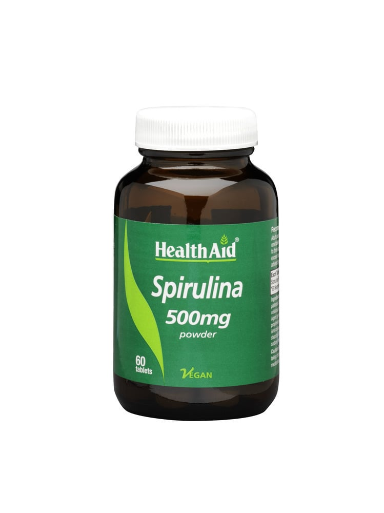Health Aid Spirulina 500mg, 100% Hawaiian, 60 ταμπλέτες
