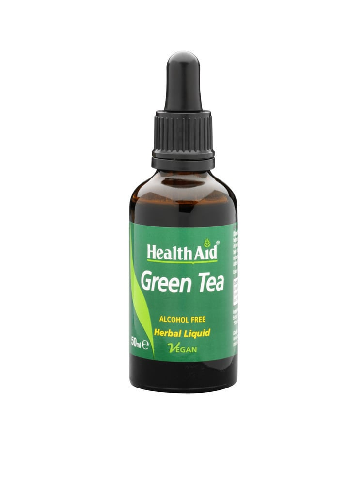 Health Aid Green Tea Liquid, 50ml