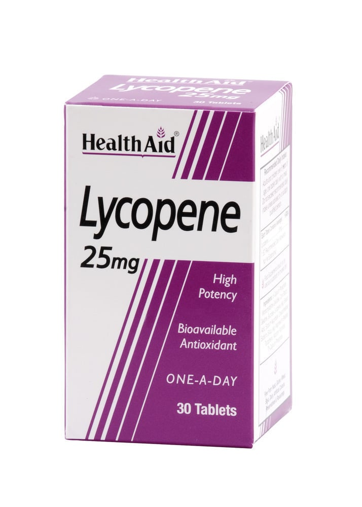 Health Aid Lycopene 25mg, 30 ταμπλέτες