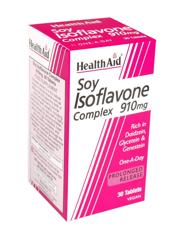 Health Aid Soy Isoflavones Complex 910 mg, 30 ταμπλέτες
