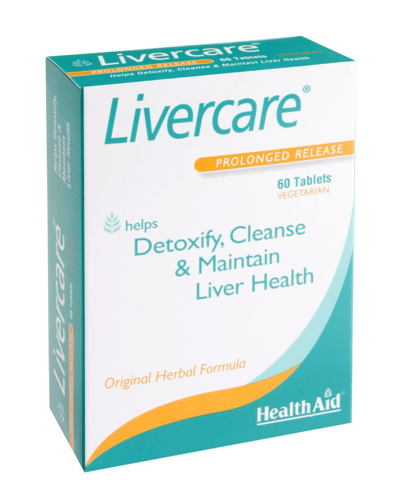 Health Aid LIVERCARE - Herbal Liver Detox, 60 ταμπλέτες