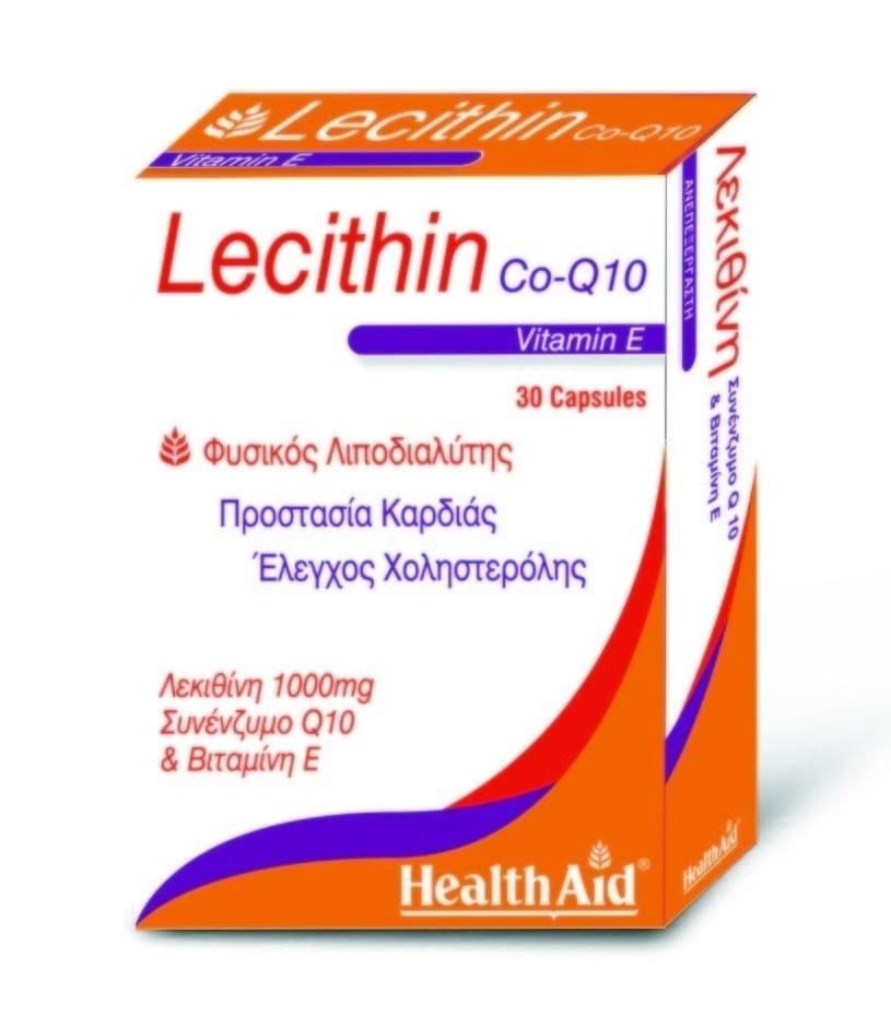 Health Aid LECITHIN 1000mg & Co-Q-10 & Vitamin E, 30 κάψουλες