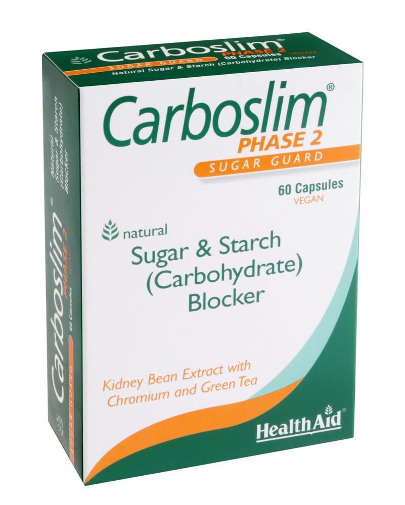 Health Aid CarboSlim Phase 2, Green Tea & Chromium, 60 κάψουλες