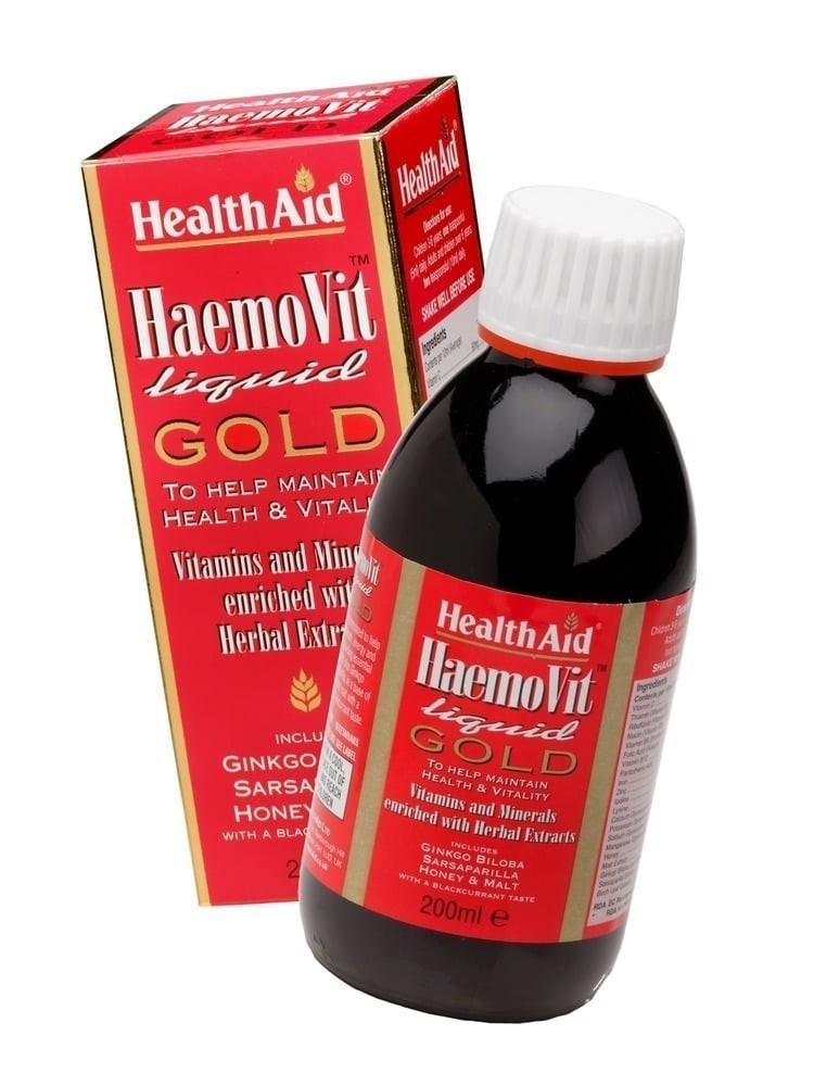 Health Aid HAEMOVIT Liquid Gold, 200 ml