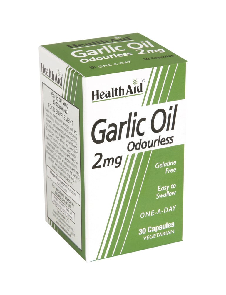 Health Aid GARLIC OIL Odourless 2mg, 30 κάψουλες