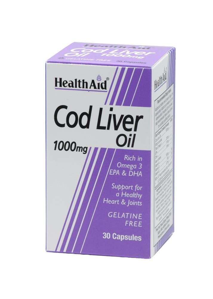 Health Aid COD LIVER OIL 1000mg 30 κάψουλες