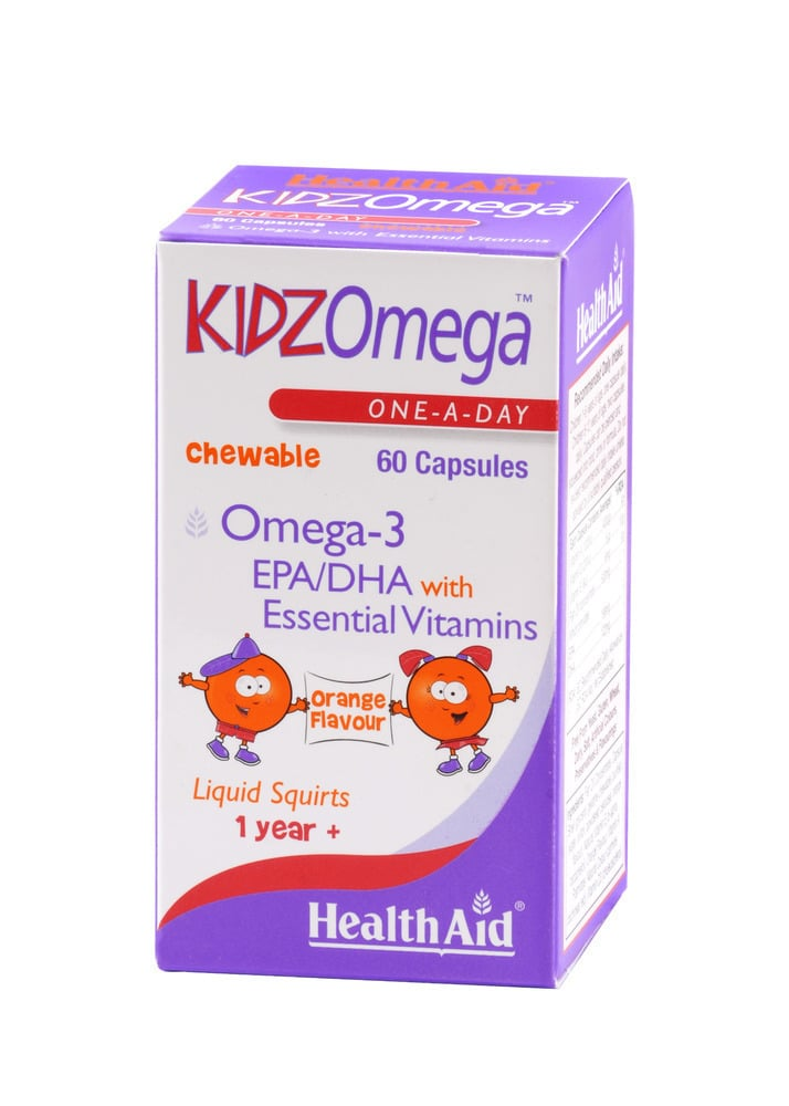 Health Aid KIDZ Omega 3 (EPA/DHA) - Chewable, 60 κάψουλες