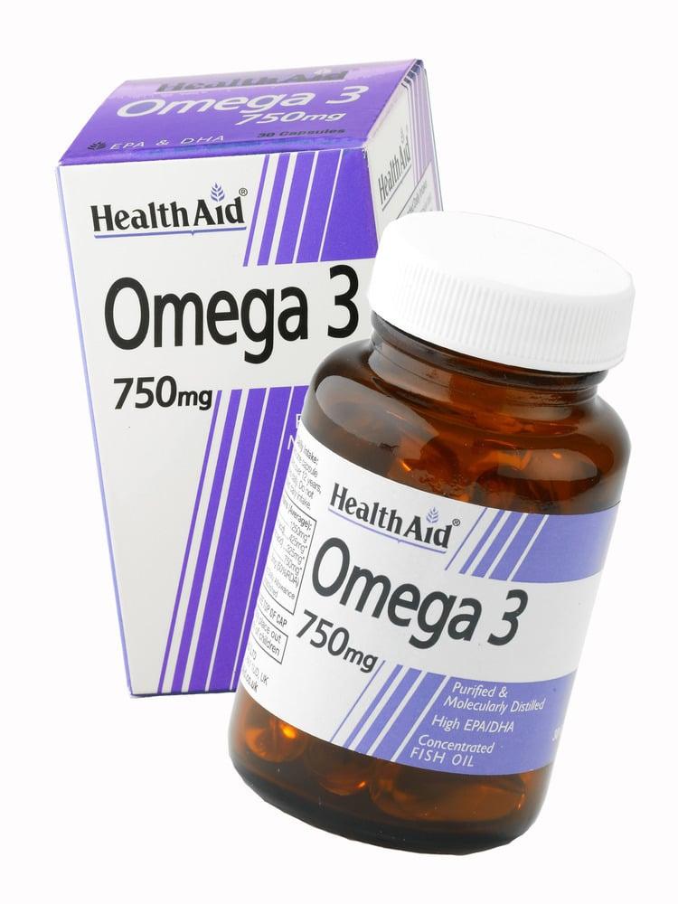 Health Aid ΟMEGA 3 Fish Oil 750 mg, 60 κάψουλες