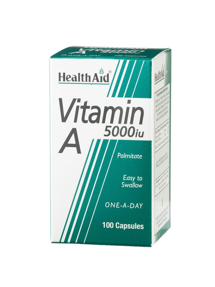 Health Aid VITAMIN A (Palmitate) 5000 i.u, 100 κάψουλες