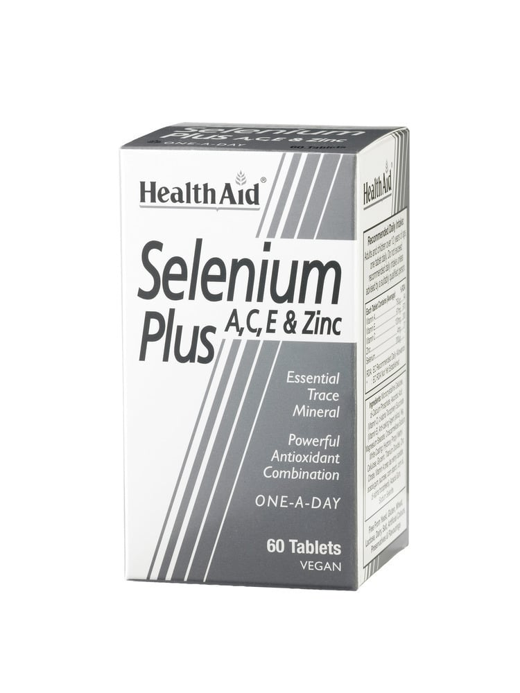 Health Aid SELENIUM Plus 200μg A, C, E & Zinc, 60 ταμπλέτες
