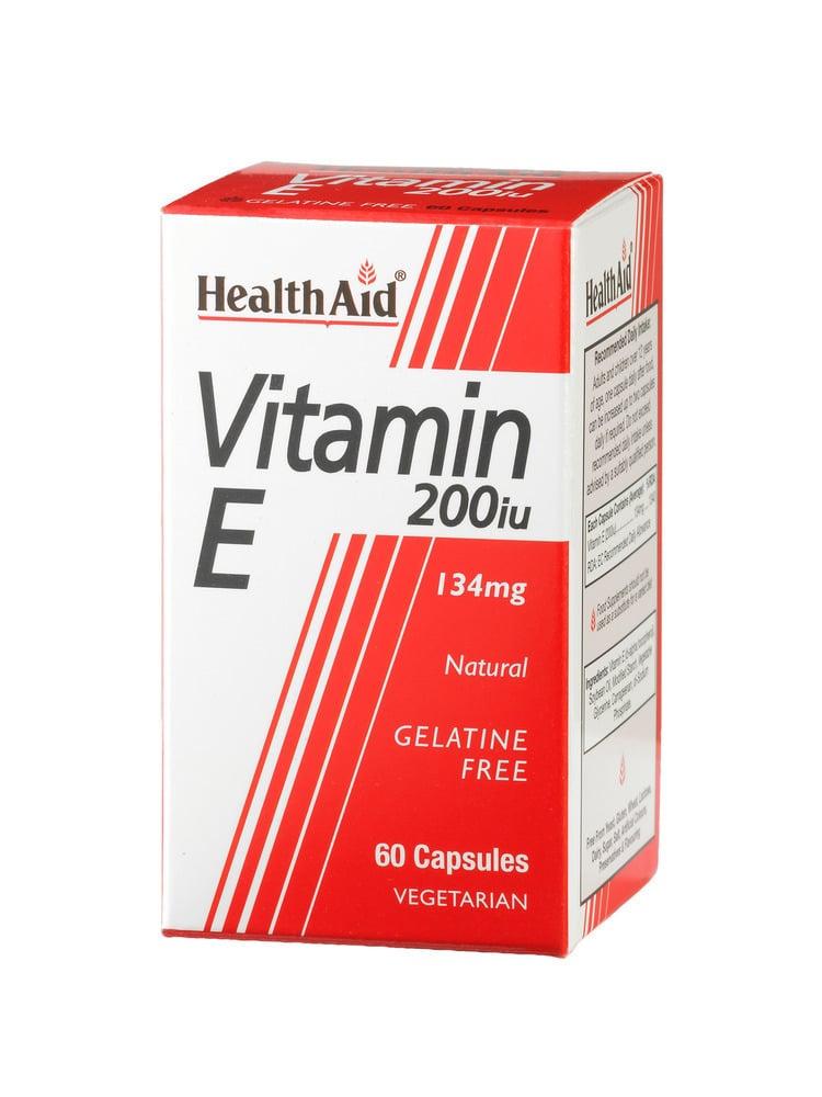 Health Aid VITAMIN E 200 i.u (134mg), 60 κάψουλες