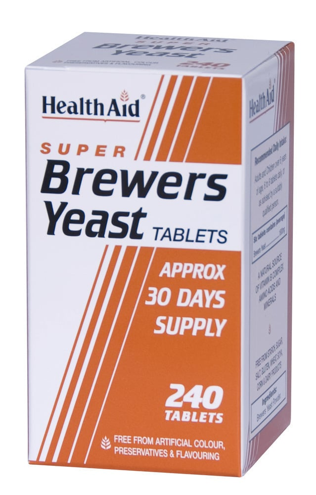 Health Aid BREWERS YEAST, ΜΑΓΙΑ ΜΠΥΡΑΣ 300mg, 240 ταμπλέτες
