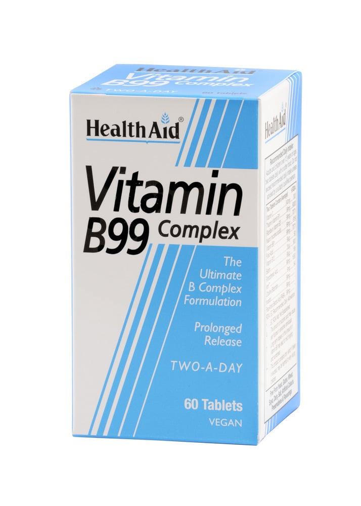 Health Aid Vitamin B99 Complex, 60 ταμπλέτες