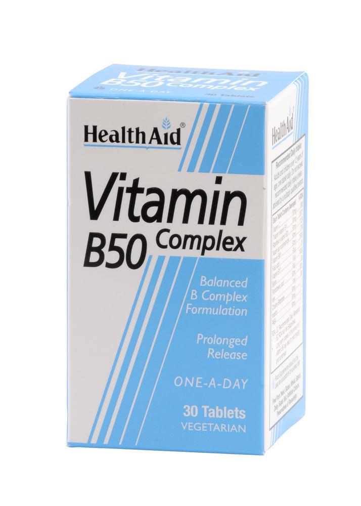 Health Aid Vitamin B50 Complex, 30 ταμπλέτες