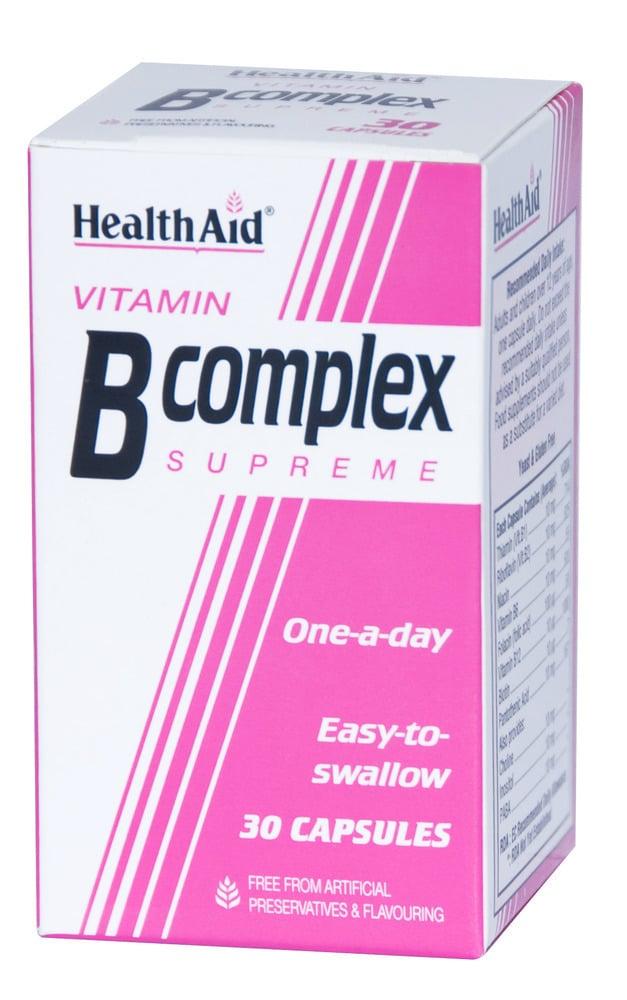 Health Aid VITAMIN B COMPLEX Supreme, 30 κάψουλες