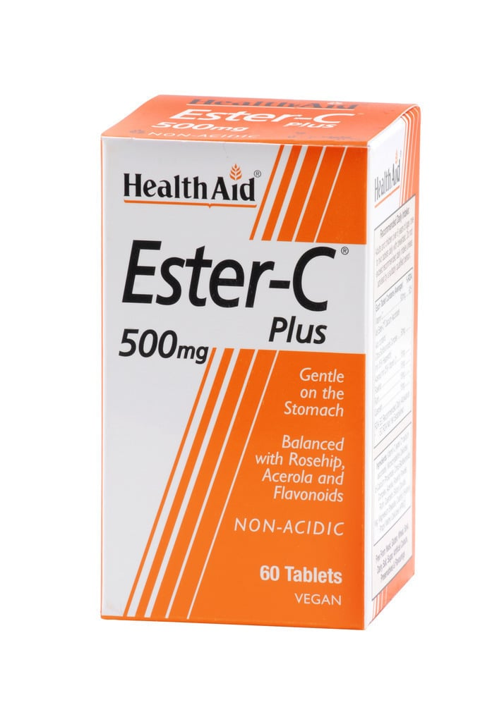 Health Aid Vitamin Ester C Plus 500mg, 60tabs