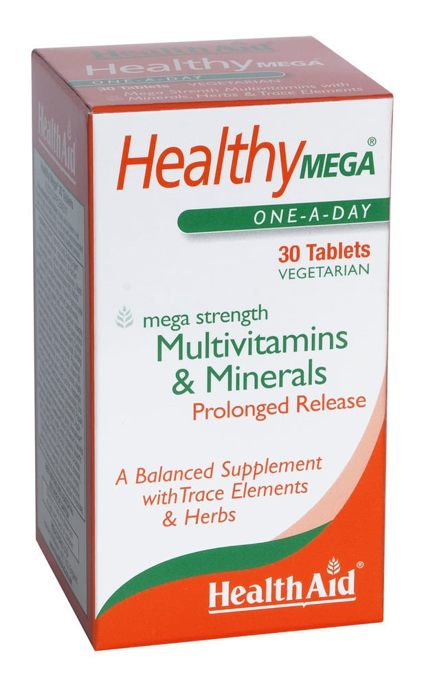 Health Aid Healthy MEGA Multivitamin & Minerals, 30 ταμπλέτες