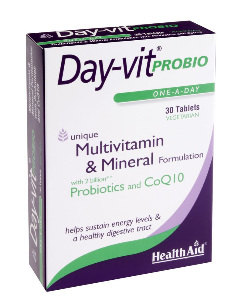 Health Aid Day-Vit Probio 2 Billion Probiotic & CoQ10,30tabs
