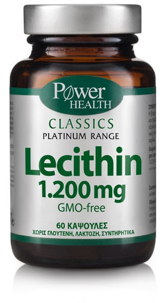Power Health CLASSICS Platinum Range Lecithin 1.200mg Συμπλήρωμα Διατροφής για τη Διατήρηση του Σωματικού Βάρους, 60 caps