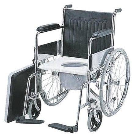ADCO Αμαξίδιο Πτυσσόμενο (13301) με μεγάλους τροχούς και Δοχείο, με φρένα στους οπίσθιους τροχούς & κάθισμα WC, 1 τεμάχιο