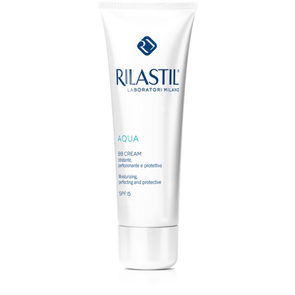 Rilastil Aqua BB Cream SPF15 Light Κρέμα ΒΒ κατά των ατελειών με ενυδατική & προστατευτική δράση, Ανοιχτή Απόχρωση, 40ml